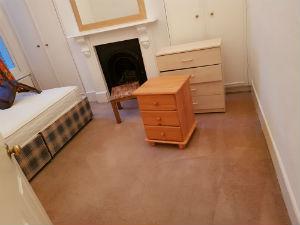 cleaned room